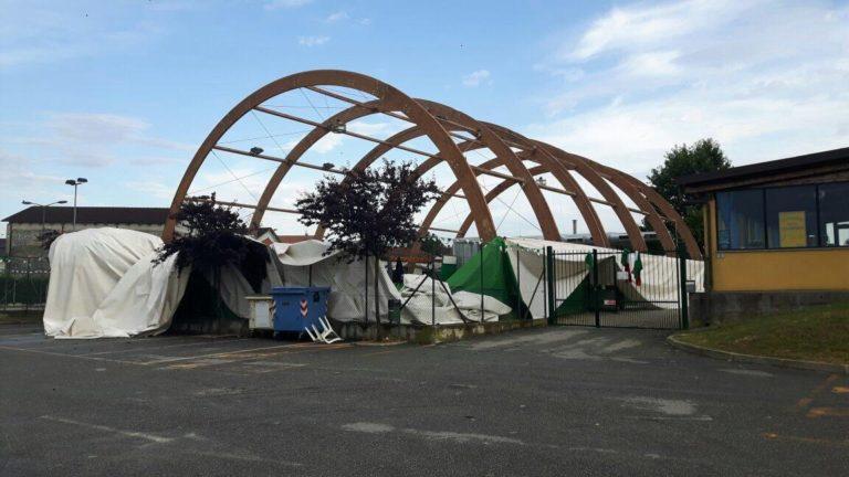 Bocciodromo di Valfenera distrutto da una tromba d'aria