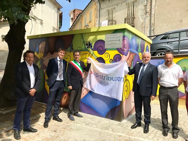 L'energia di Enel incontra la street art nelle terre del Moscato
