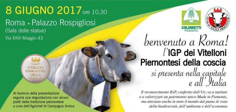 """L'Igp """"Vitellone Piemontese"""" si presenta a Roma. Presenti anche gli allevatori astigiani"""