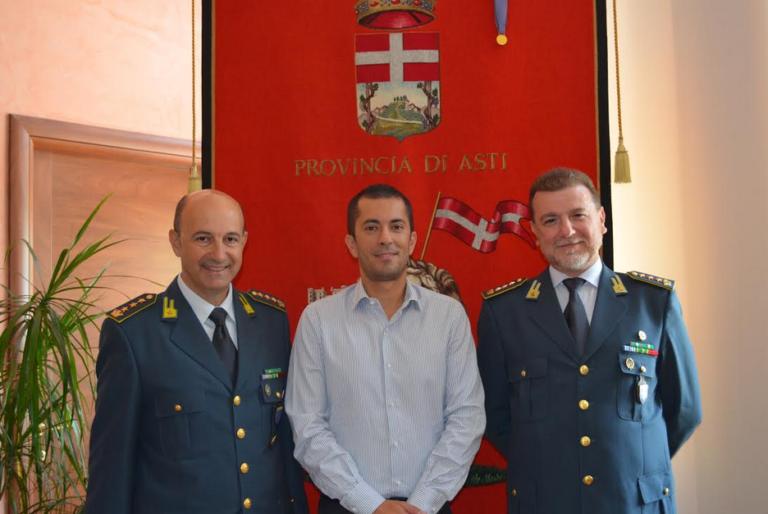 Il presidente della Provincia riceve i vertici della Guardia di Finanza di Asti