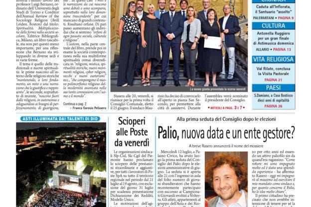 Prima pagina – 14 luglio 2017