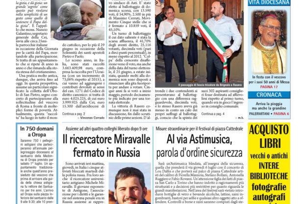 Prima pagina – 30 giugno 2017