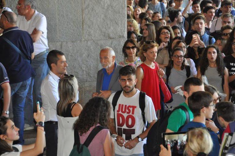 Studenti del Monti in sciopero