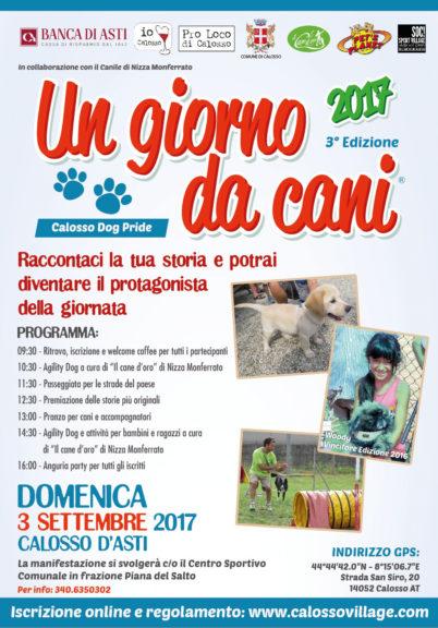 Calosso Dog Pride domenica 3 settembre