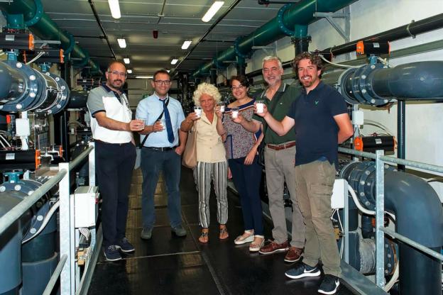 Il sindaco di Asti Rasero visita gli impianti dell'acquedotto comunale di Cantarana