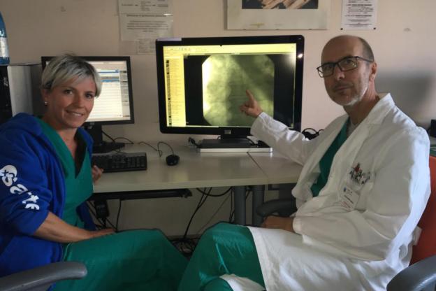 Alla Cardiologia del Massaia un catetere a ultrasuoni per sciogliere i trombi del sangue