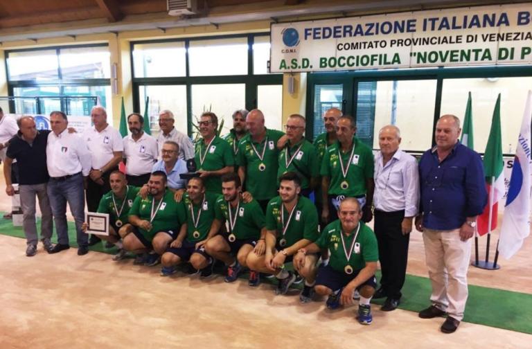 Bocce, il Nosenzo è campione d'Italia