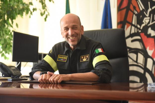 Il comandante Turturici lascia i vigili del fuoco di Asti