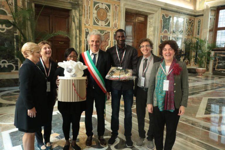 I prodotti di Maramao portati in dono a papa Francesco