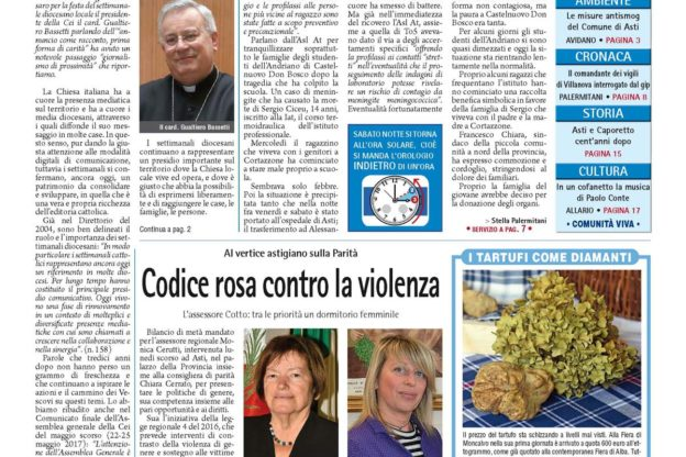 Prima pagina – 27 ottobre 2017