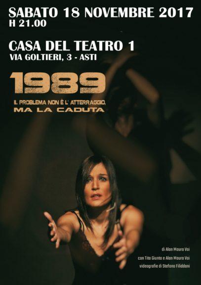 """""""1989 – Il problema non è l'atterraggio, ma la caduta"""" alla Casa del Teatro"""