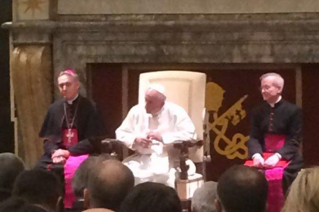 Papa Francesco incontra i giornali cattolici