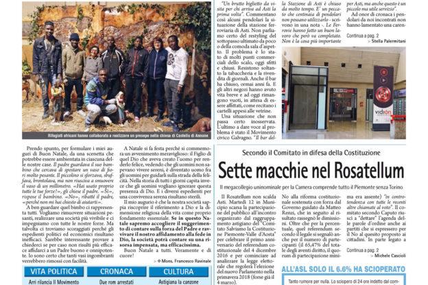 Prima pagina – 15 dicembre 2017