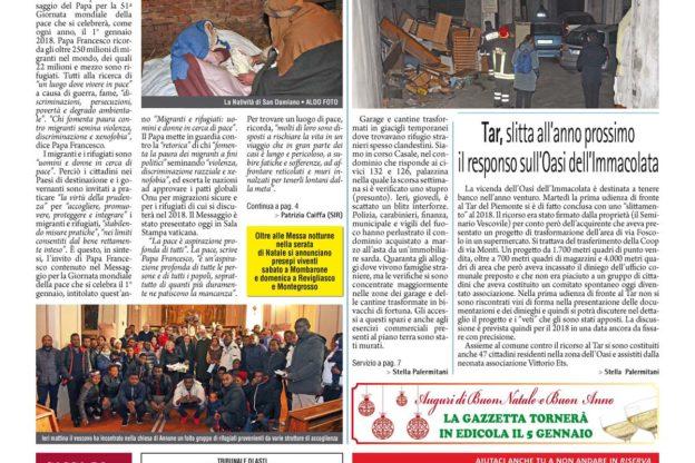 Prima pagina – 22 dicembre 2017