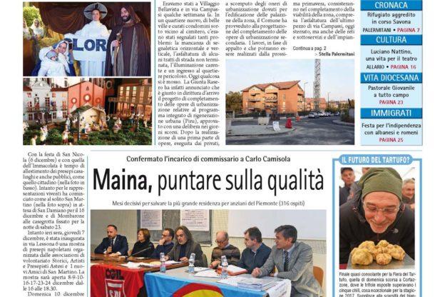 Prima pagina – 8 dicembre 2017