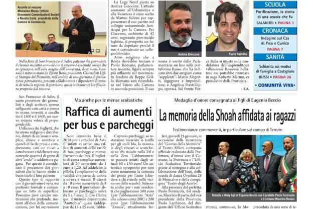 Prima pagina 26 gennaio 2018