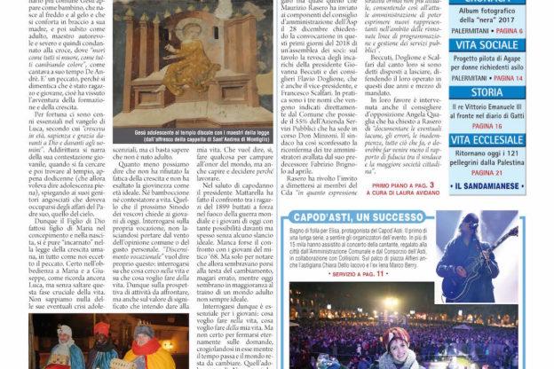 Prima pagina – 5 gennaio 2018