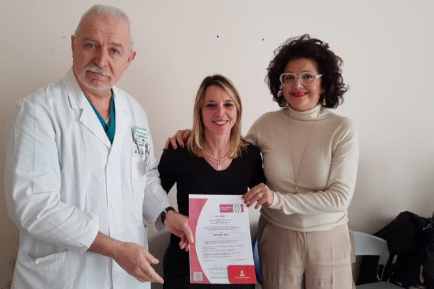 Certificaizone Iso per la Gastroenterologia dell'ospedale Massaia
