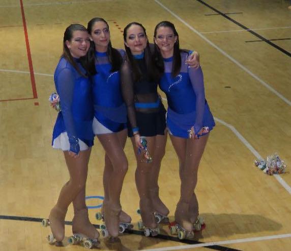 """Esordio del quartetto """"Elements"""" al campionato regionale Fisr Gruppi Spettacolo"""