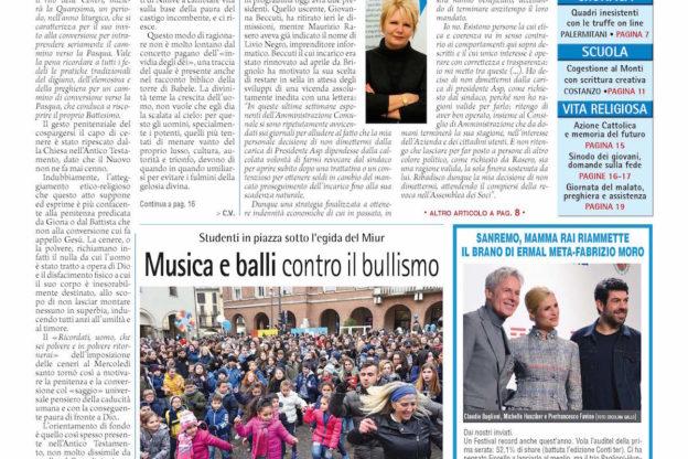 Prima pagina – 9 febbraio 2018