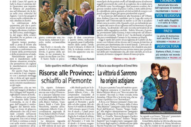 Prima pagina – 16 febbraio 2016