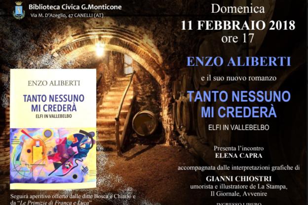 Alla Biblioteca Monticone di Canelli Enzo Aliberti e il suo nuovo libro