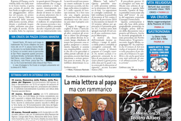 Prima pagina – 23 marzo 2018