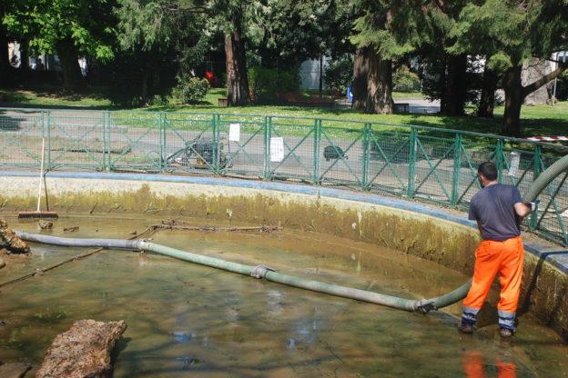 Asp al lavoro per riaprire le fontane ornamentali cittadine