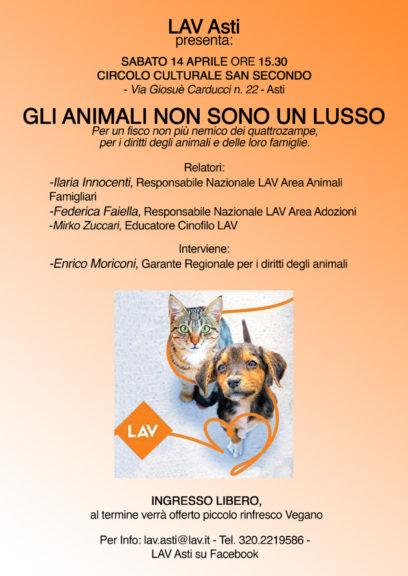 Gli animali non sono un lusso