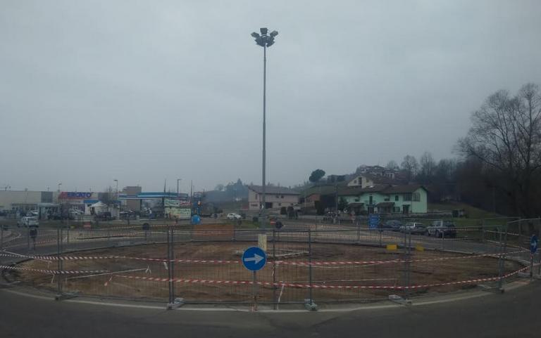 Una nuova rotonda a San Damiano