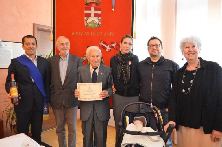 Il maresciallo scelto dei carabinieri Quaglia compie 100 anni