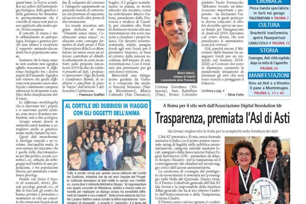 Prima pagina – 18 maggio 2018