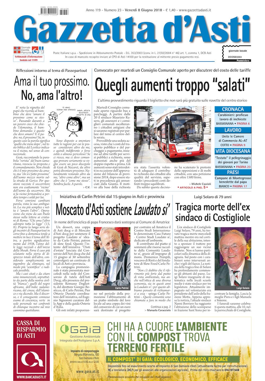 Prima pagina – 8 giugno 2018