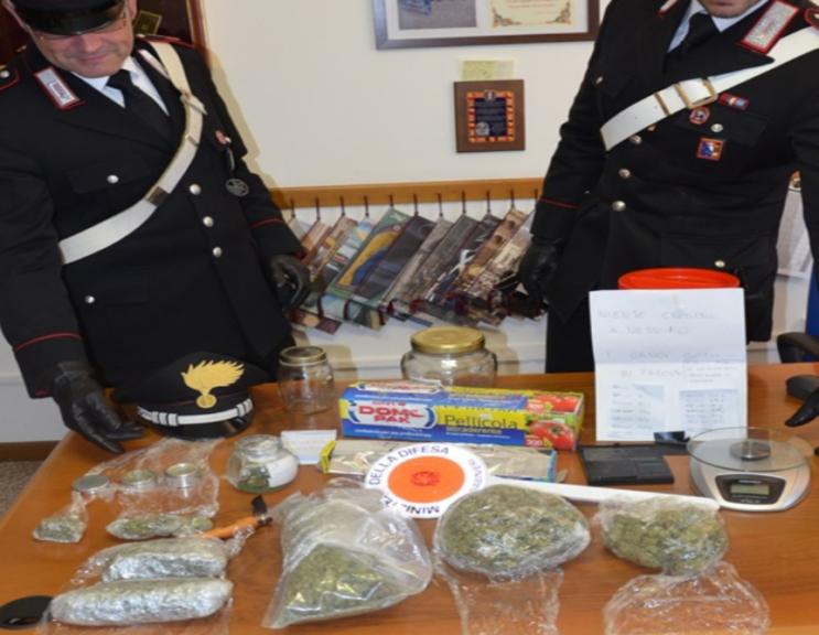 Traffico di droga scoperto dai carabinieri di Villanova d'Asti
