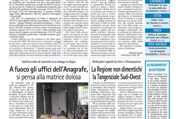 Prima pagina – 15 giugno 2018