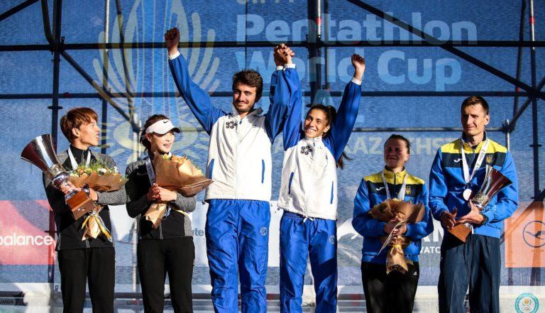 Oro per Alice Sotero nella staffetta mista con Riccardo De Luca alla  Coppa del Mondo di Pentathlon Moderno