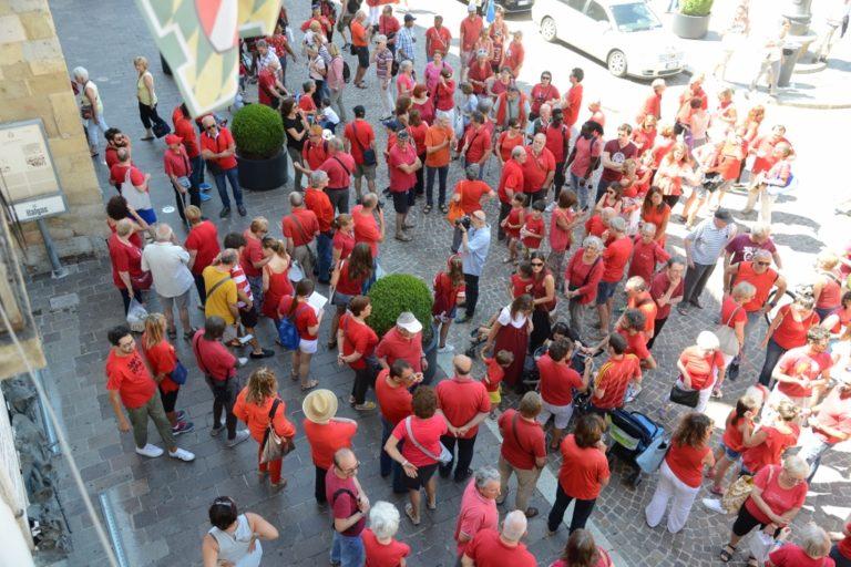 Magliette rosse a Villa Quaglina