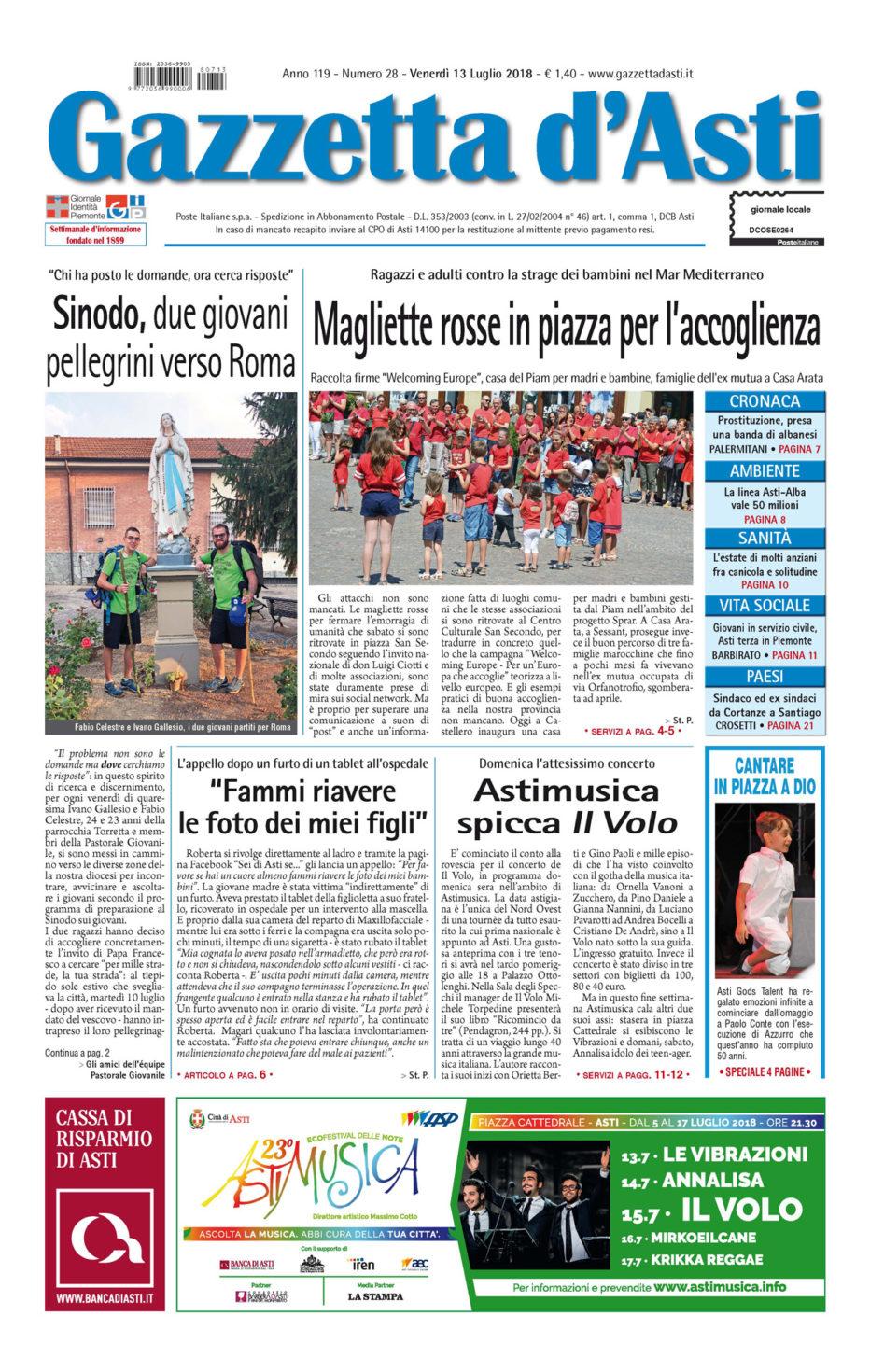 Prima pagina – 13 luglio 2018