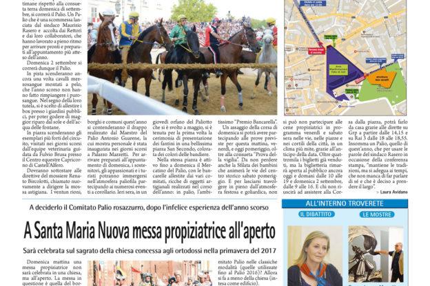 Prima pagina – 31 agosto 2018