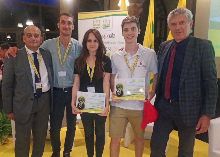 Due astigiani vincono l'Oscar Green regionale, il premio Coldiretti per l'innovazione imprenditoriale giovanile