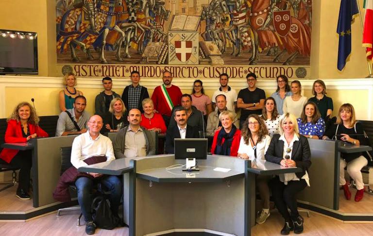 I docenti internazionali dell'Erasmus+ in visita ad Asti