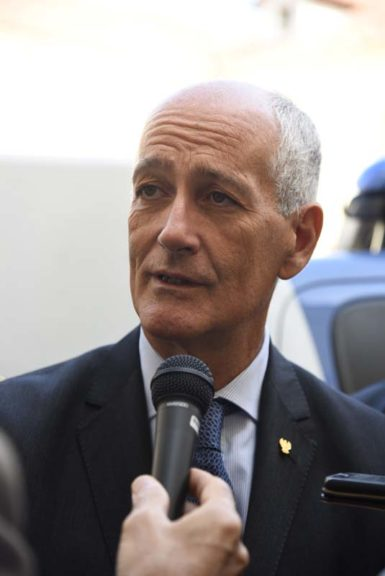 Il capo della polizia Gabrielli in visita ad Asti