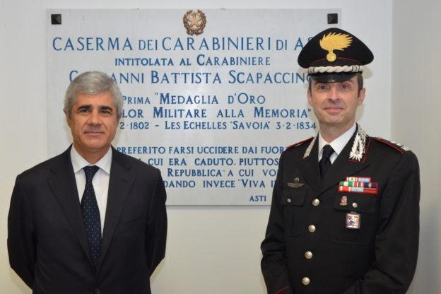 Il prefetto di Asti in visita al comando provinciale dell'Arma