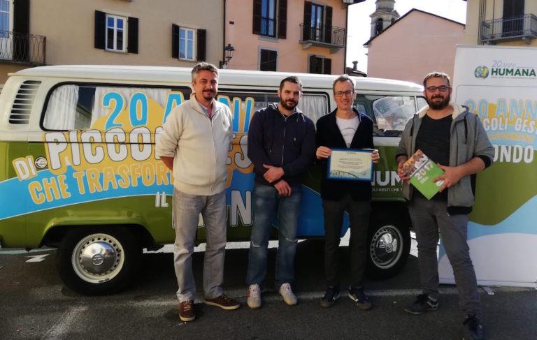 """Il Comune di Villanova d'Asti vince il premio """"Humana Eco-solidarity Award 2018"""""""