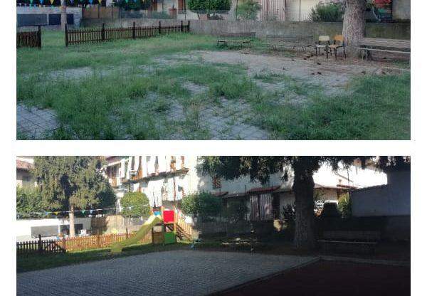 Asti: la scuola Cagni ha un nuovo cortile grazie all'associazione Gli Amici di Luca