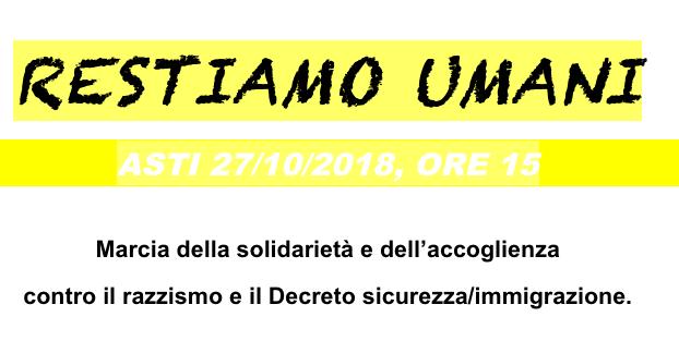 Ad Asti una marcia della solidarietà e dell'accoglienza