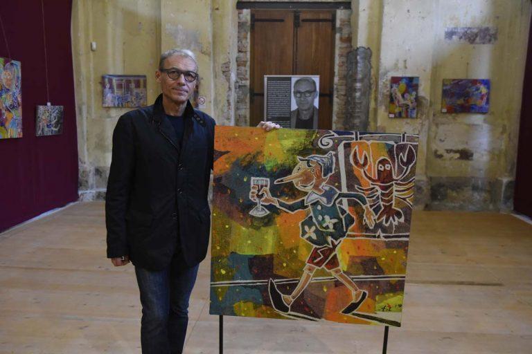 Primo week end per la mostra di Filippo Pinsoglio nell'ex Chiesa del Gesù