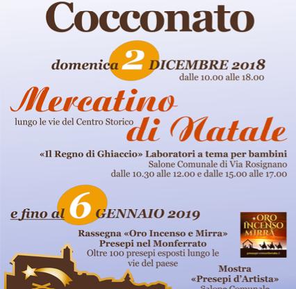 Oro incenso mirra – Presepi nel Monferrato domenica a Cocconato