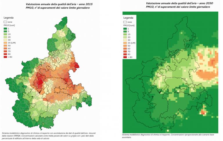 Piemonte: nuovo piano regionale per la qualità dell'aria adottato dalla Giunta
