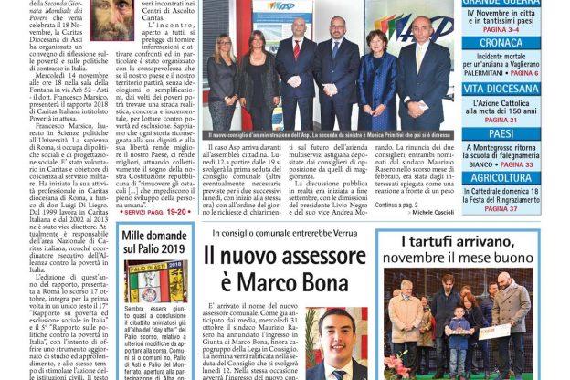 Prima pagina – 9 novembre 2018